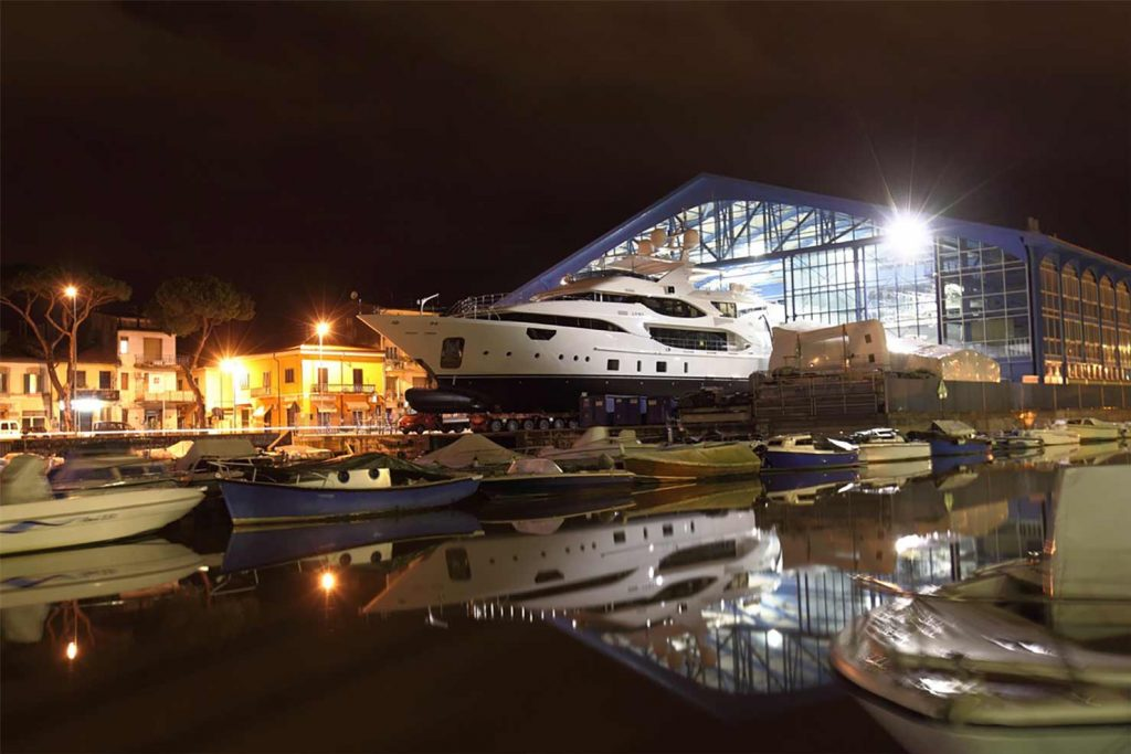 New yacht being launched
