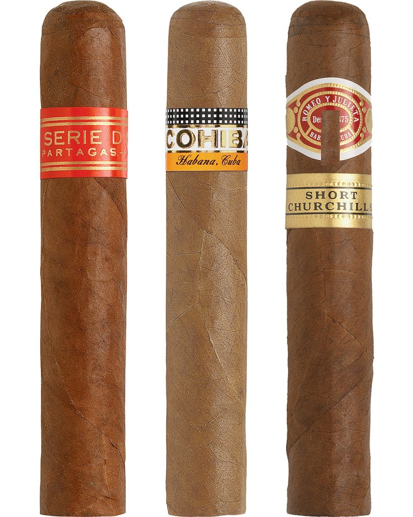 Cigars in a row