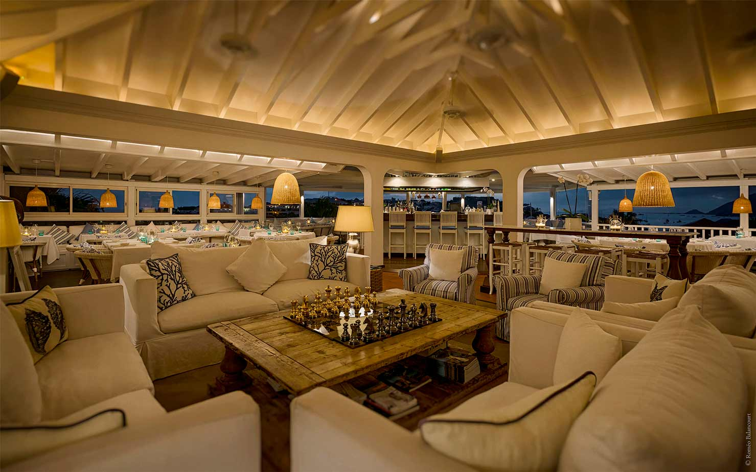 Seating area at Bonito St. Barths
