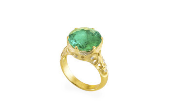 Alex Sepkus green tourmaline ring