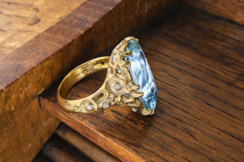 Alex Sepkus aquamarine ring
