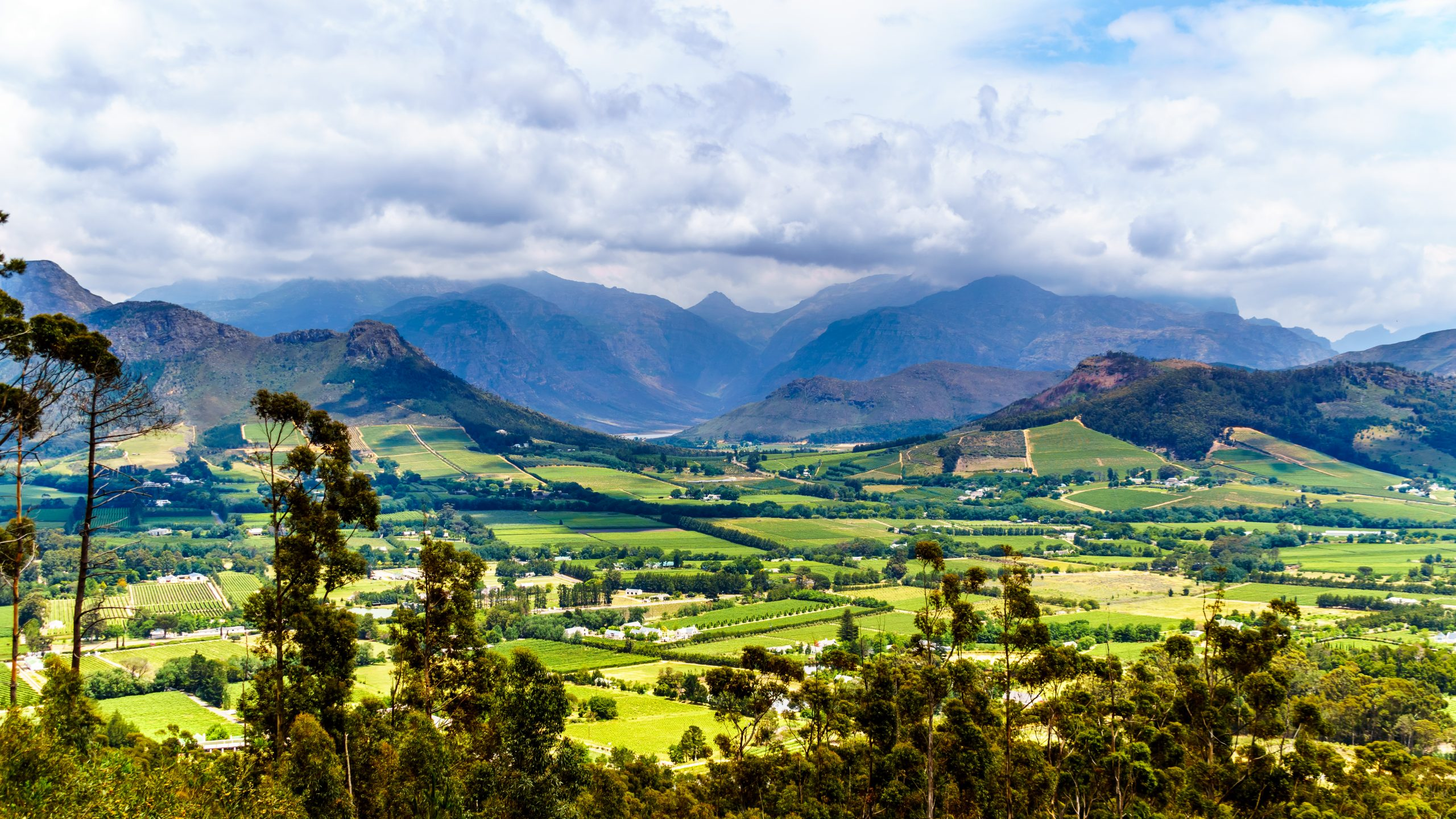 Franschhoek Valley in the Western Cape of South Africa