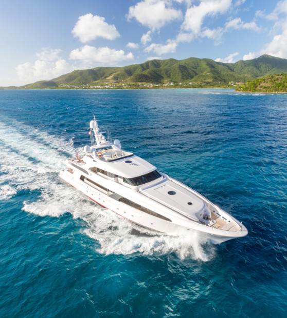 Charter Yacht USHER running in the Caribbean