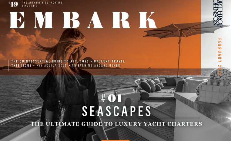 Main Embark image featuring a girl on board a charter yacht