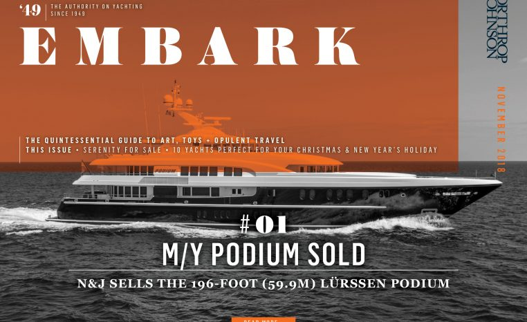 Main Embark image featuring a superyacht sold by Northrop & Johnson