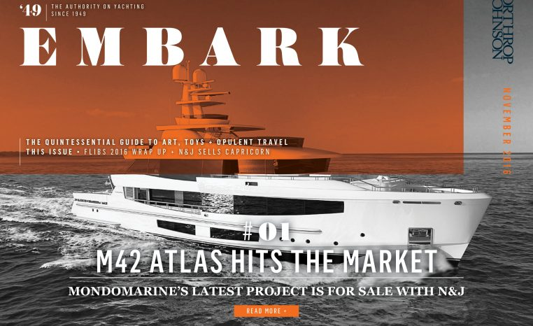 Main Embark image featuring a superyacht underway