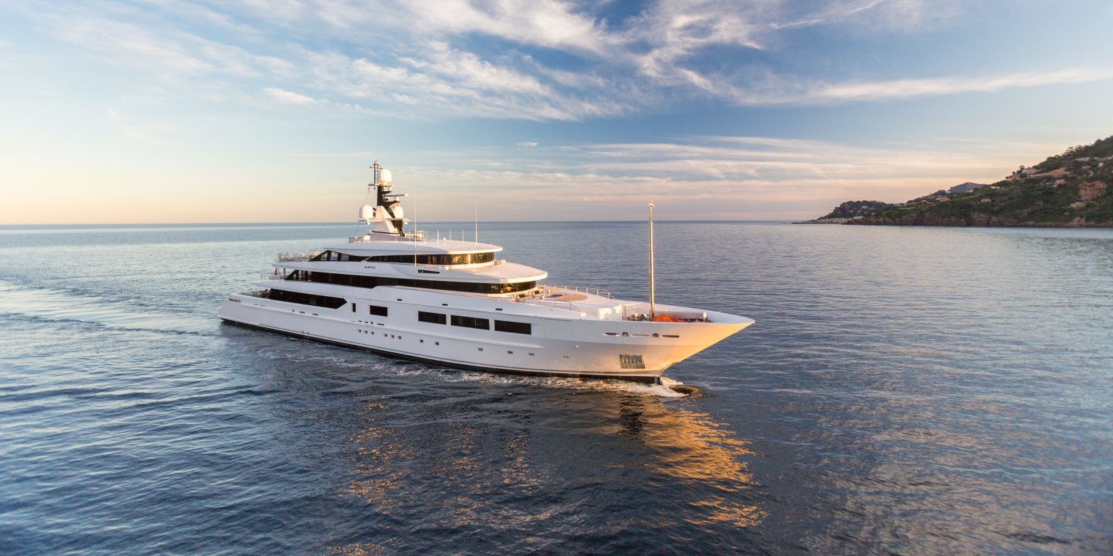 Superyacht for sale cruising the mediterranean