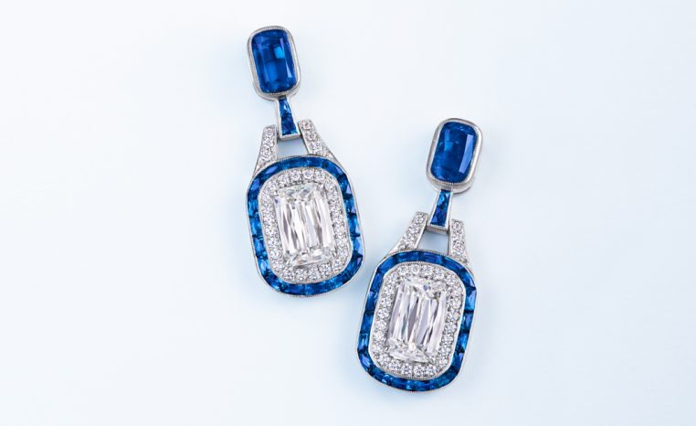 Kwiat Sapphire and Diamond Earrings