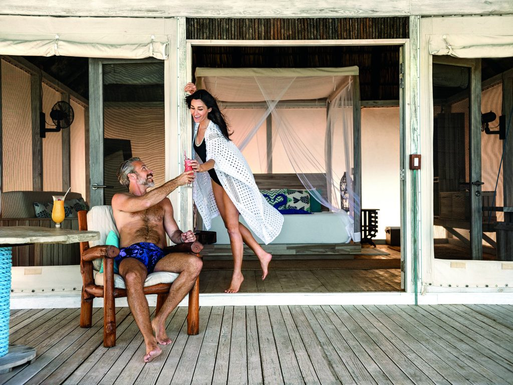 Couple in a hotel room in the BVI