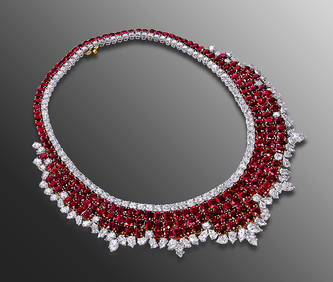 ack Abraham Burma Ruby Necklace