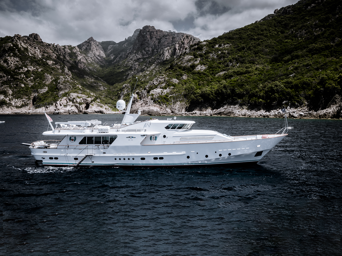 Classic charter yacht VESPUCCI in the Mediterranean