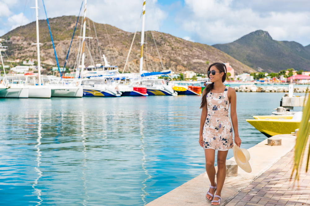Girl on the dock in St. Maarten