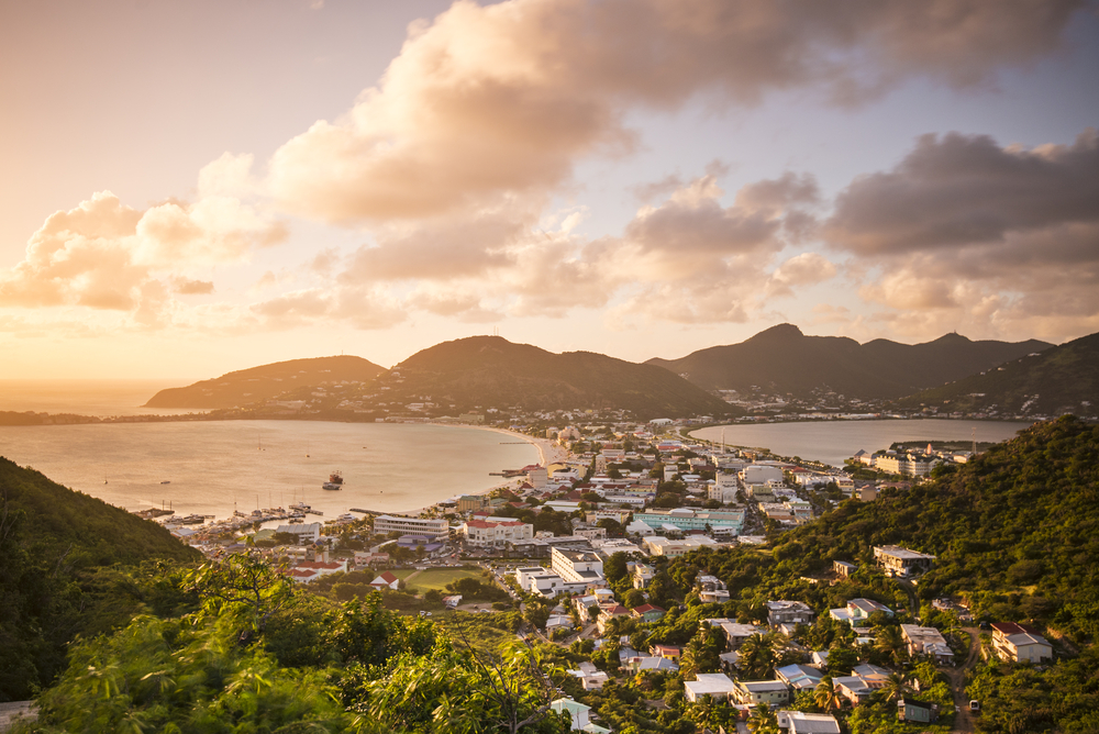 St Maarten view from hilltop