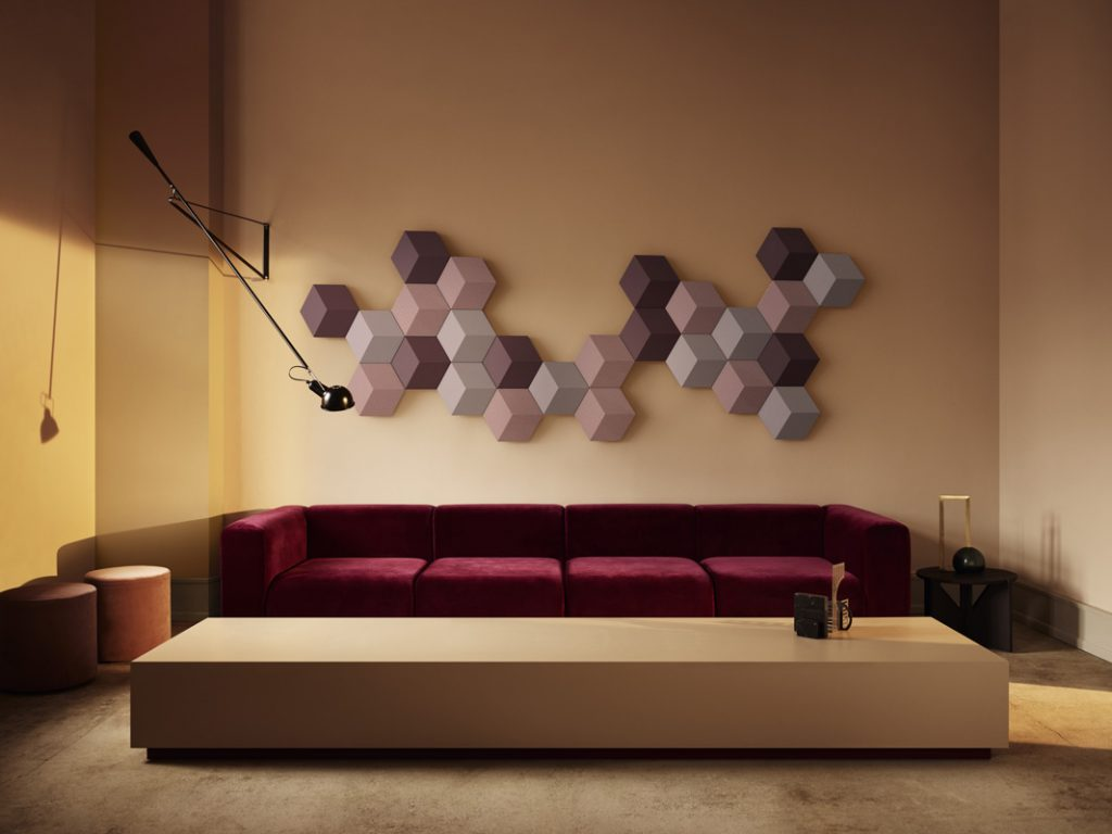 Hexgon sound system on the wall