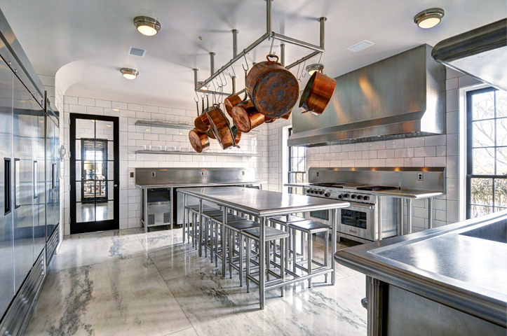 Kitchen in a home in the Hamptons