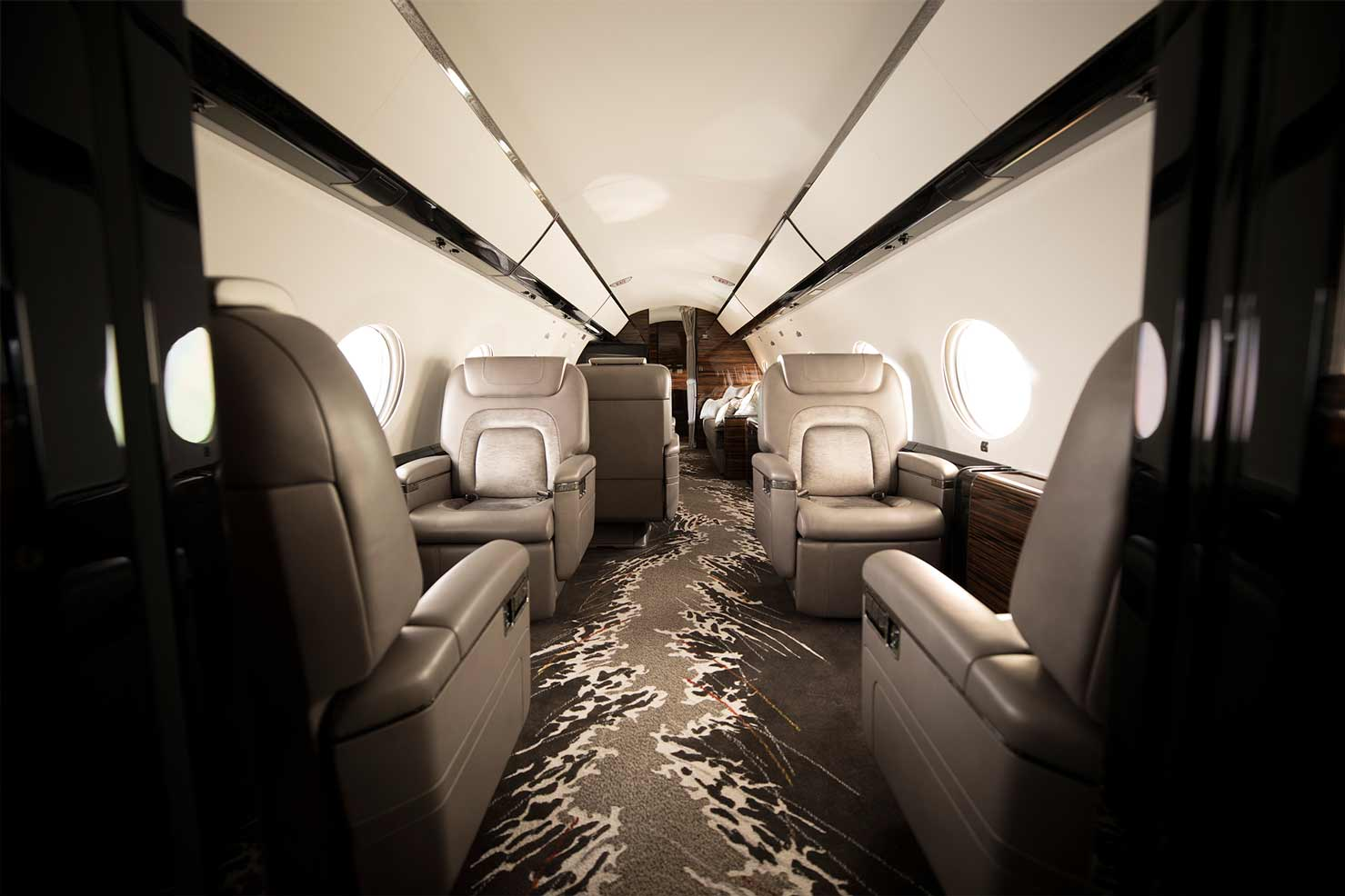 Interior private jet