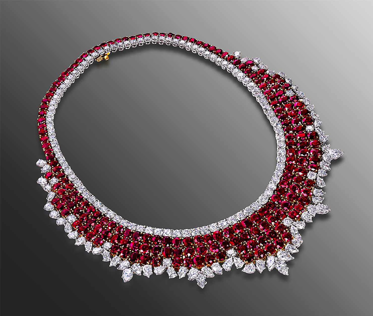 necklace Burma rubies plat diamonds.