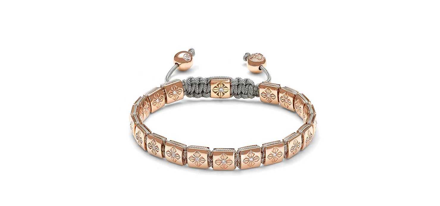Bracelet in 18K rose gold with diamonds