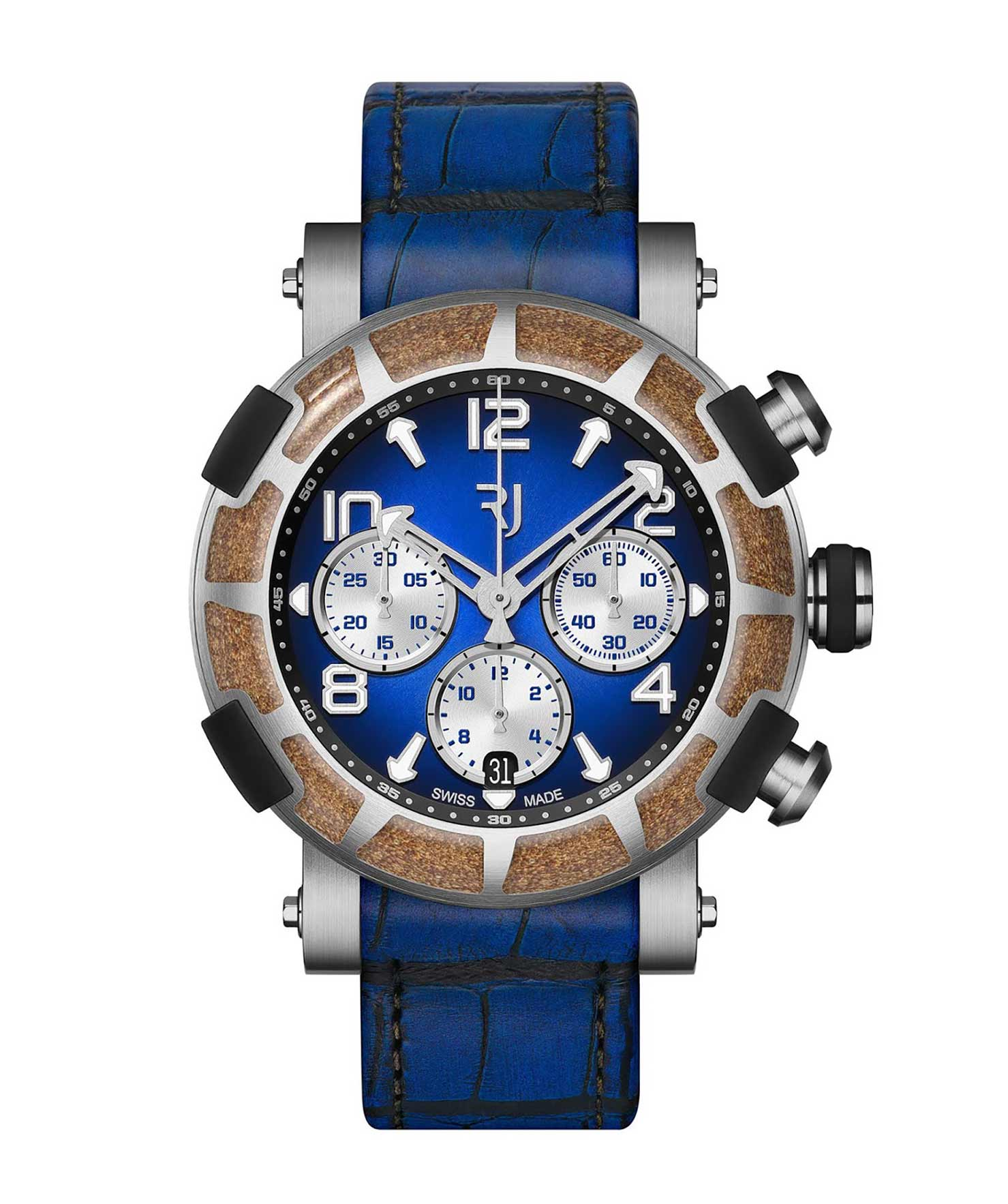 Romain Jerome brown and blue