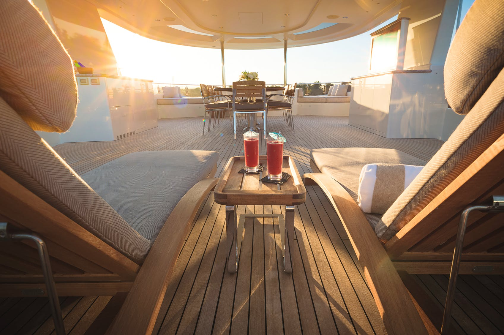 W-Sundeck at sunset