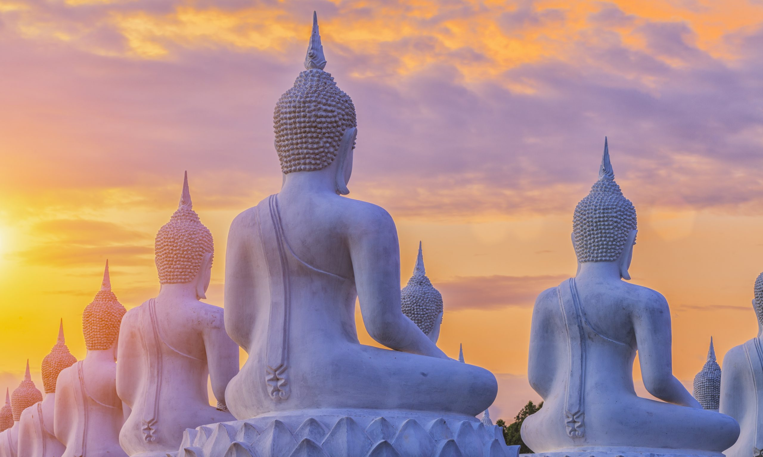 Sunset budda thailand