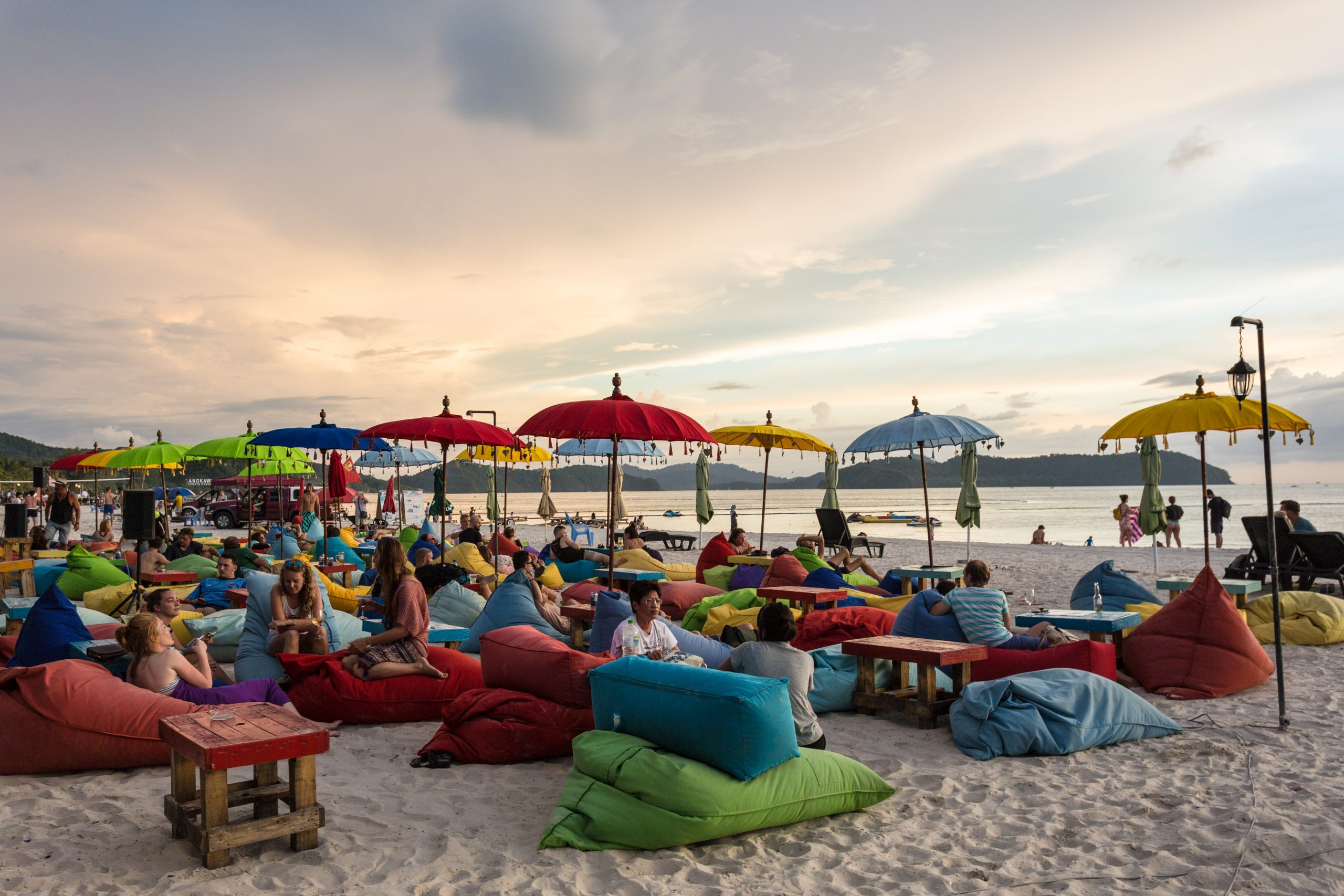 Langkawi Malaysia beach with colour