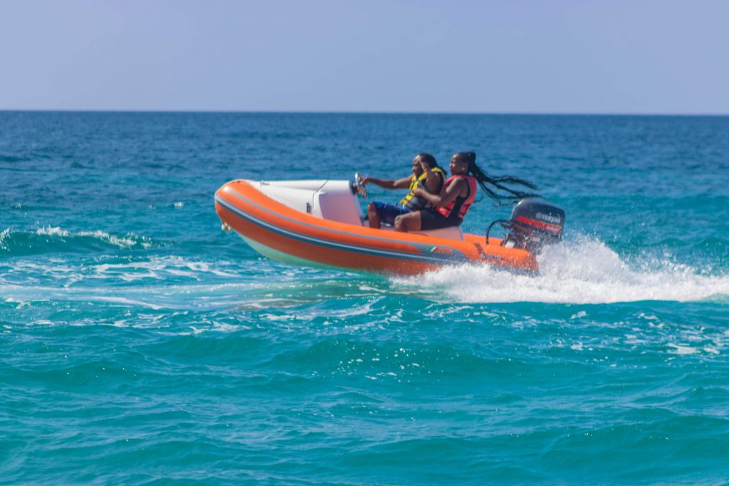 Mini speed boats provide watery thrills