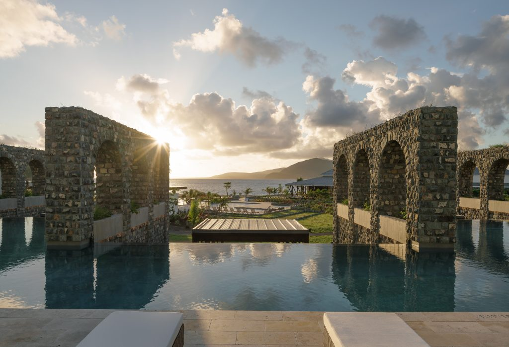 The adults-only pool at the Park Hyatt St. Kitts