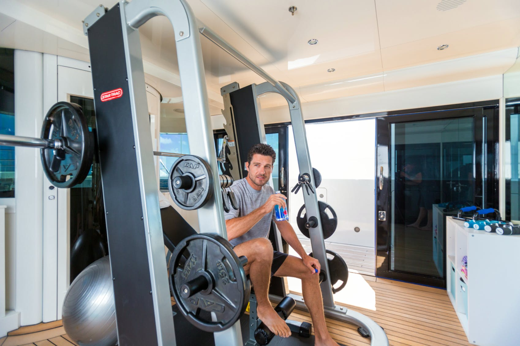 Benetti charter yacht LUMIERE onboard gym