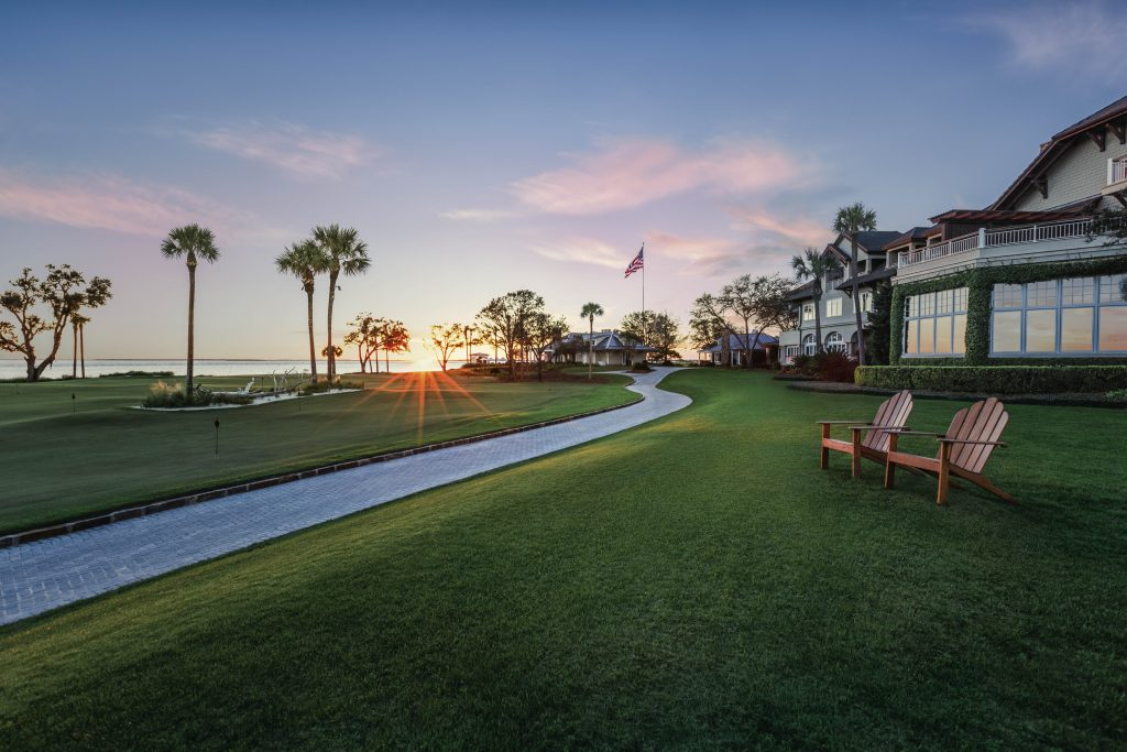 Sea Island Resort Lodge at Sunset