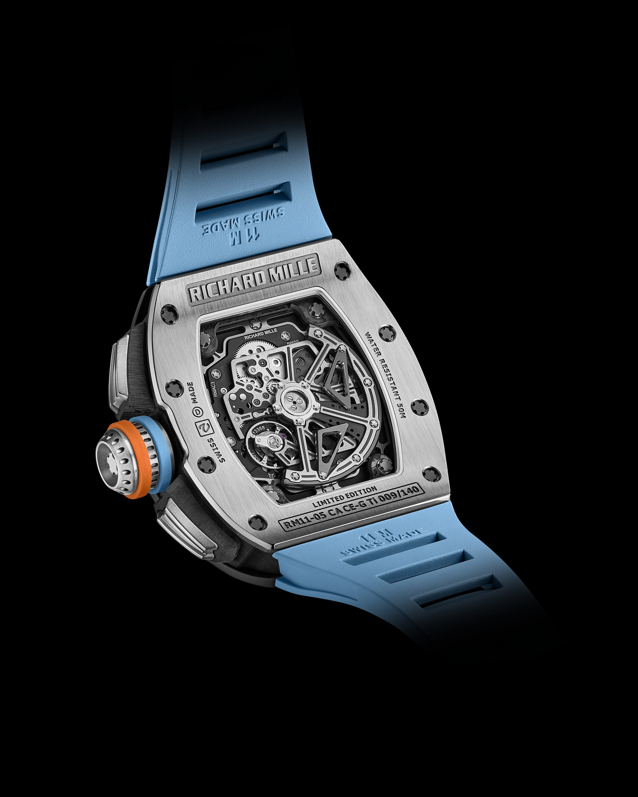 Richard Mille RM 11-05 Automatic Flyback Chronograph GMT timepiece back