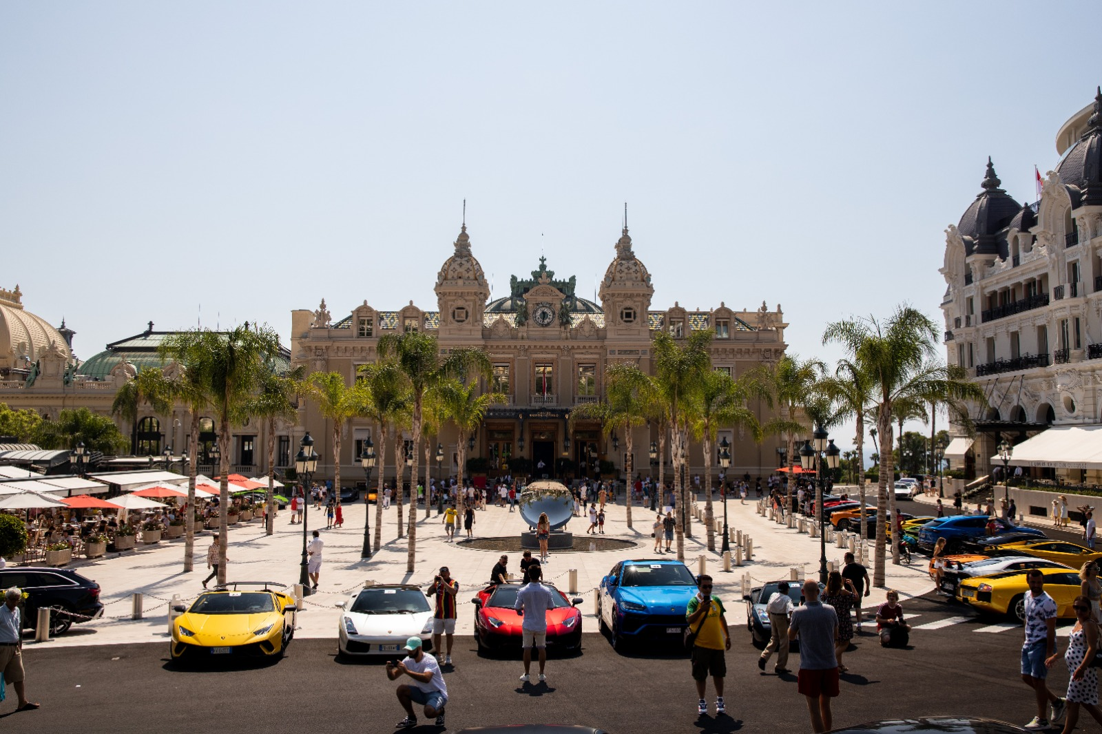Lamborghinis at the Place du Casino Monaco