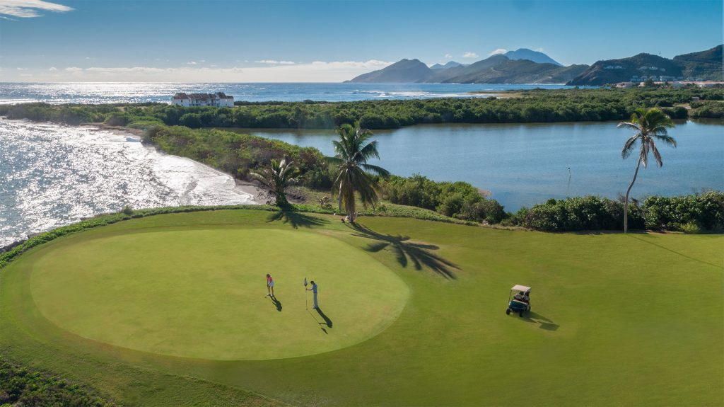The 17th hole at the Royal St. Kitts Golf Club