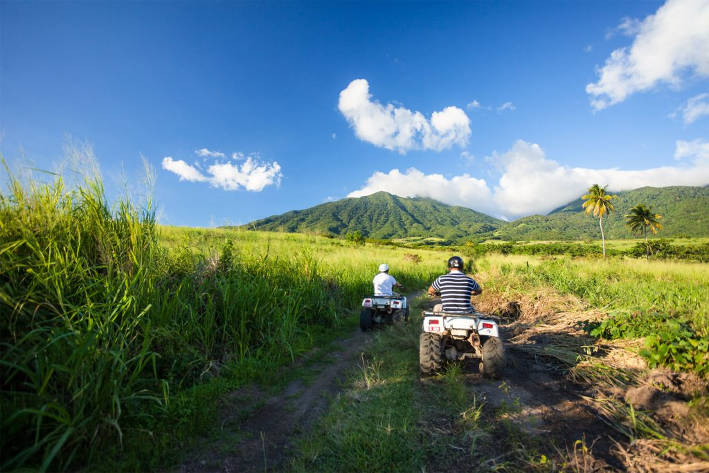 Take an ATV tour into the heart of St. Kitts