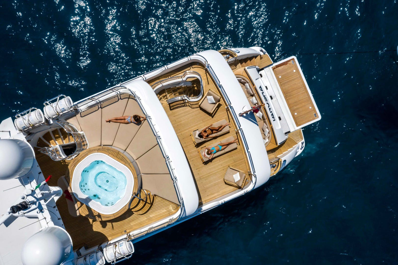 Benetti 120 yacht for sale TANUSHA decks