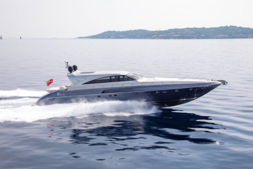 78-foot (24.05m) AB Yacht SYBER running profile